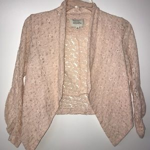 Other - Pink lace blazer